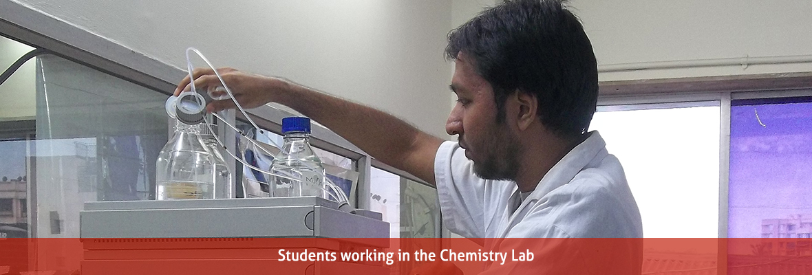 Students working in the  Chemistry Lab