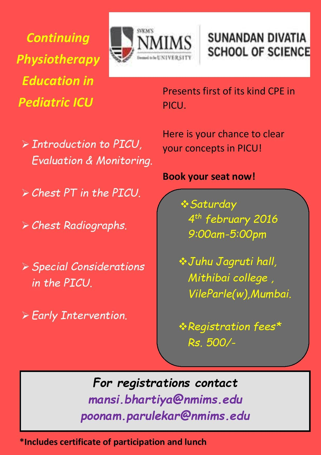 Continuing Physiotherapy Education in Pediatric ICU