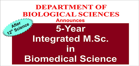 Announcing a 5-Year Integrated M.Sc. in Biomedical Science